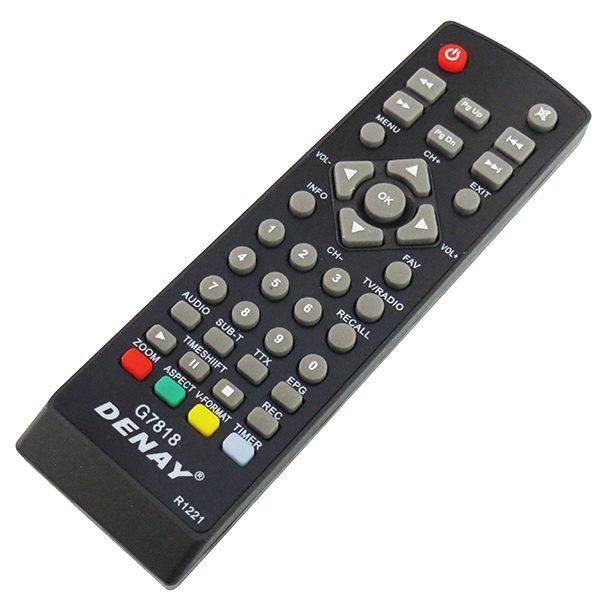 ریموت کنترل گیرنده ی دیجیتال DENAY دنای 7818
