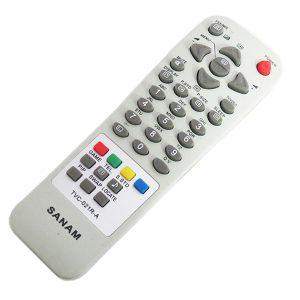 ریموت کنترل تلویزیون صنام 021R-A ولوم بالا SANAM