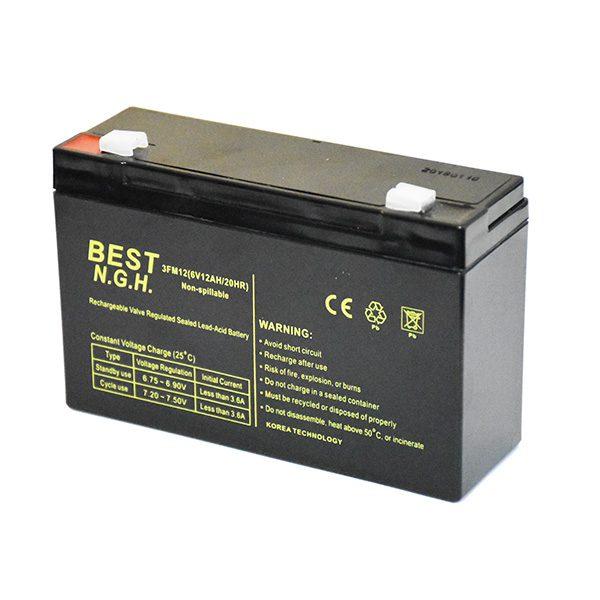 باتری خشک 6 ولت 12 آمپر ساعت