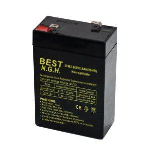باتری خشک 6 ولت 2.8 آمپر ساعت