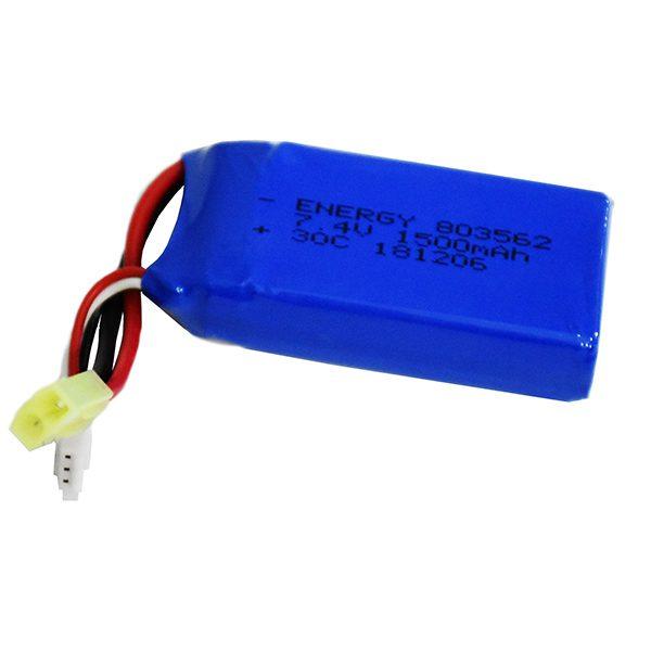 باتری لیتیوم پلیمری 7.4 ولت 1500 میلی آمپر