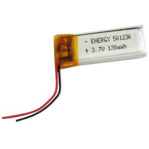 باتری لیتیومی آدامسی 120 میلی آمپر