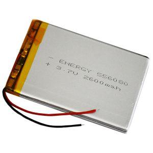 باتری لیتیوم پلیمر 3.7 ولت 2600 میلی آمپر