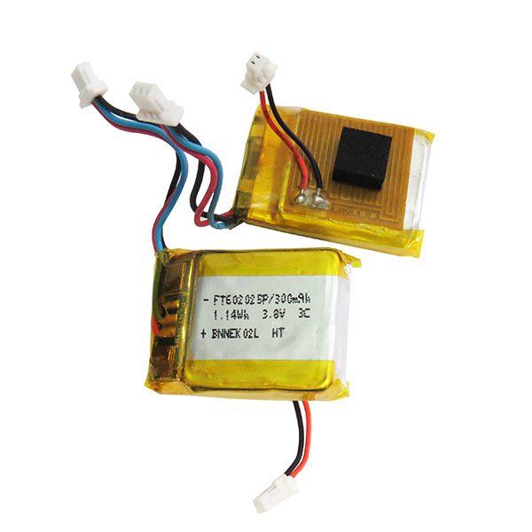 باتری لیتیوم پلیمر 3.8 ولت 300mAh پنج سیم