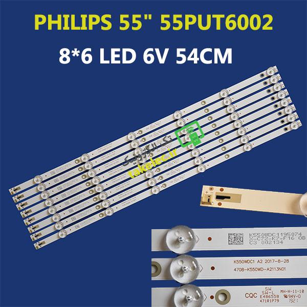 بک لایت تلویزیون فیلیپس 55 اینچ 55PUT6002