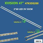بک لایت تلویزیون ایکس ویژن LE-47K3DS200
